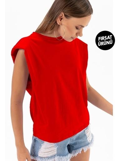 Emjey Fırsat Ürünü-Vatkalı T-Shirt Kırmızı